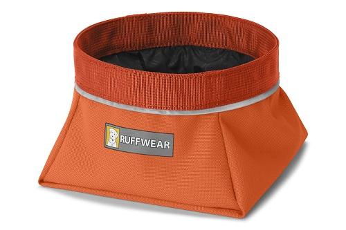 Ruffwear miska pro psy, Quencher, oranžová, velikost M