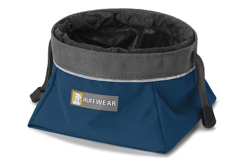 Ruffwear miska pro psy Quencher Cinch Top, tmavě modrá, velikost M
