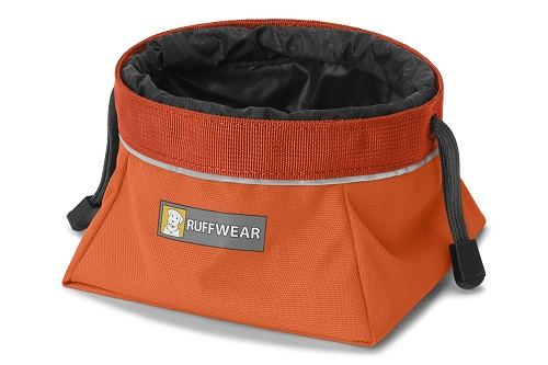 Ruffwear miska pro psy Quencher Cinch Top, oranžová, velikost M