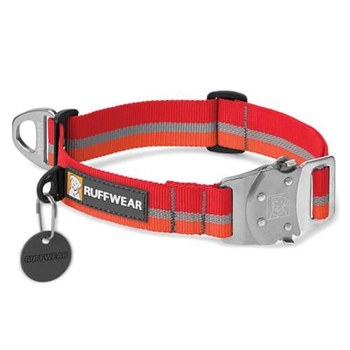 Ruffwear obojek pro psy Top Rope Dog Collar, červený, velikost S