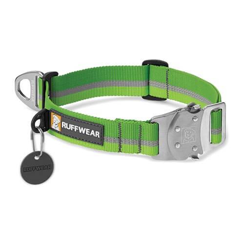 Ruffwear obojek pro psy, Top Rope Dog Collar, zelený, velikost M