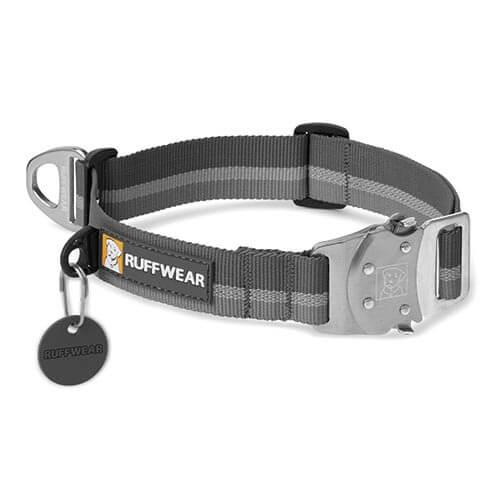 Ruffwear obojek pro psy, Top Rope Dog Collar, šedý, velikost S