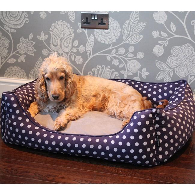 PET REBELLION- Pelíšek pro psa, Dog Bed, modrý, 80x65x25
