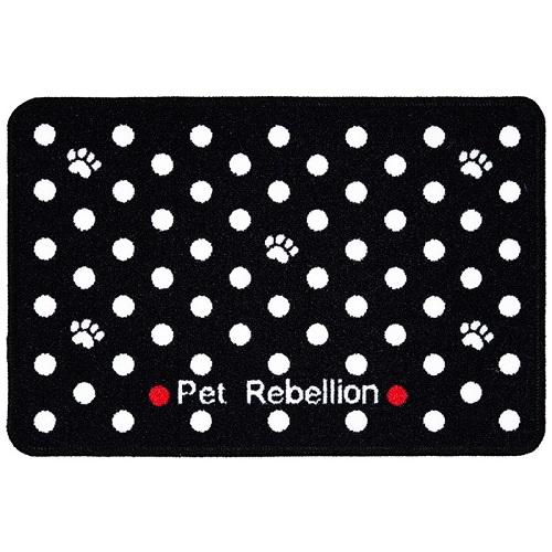 PET REBELLION- Kobereček pod misku, DM bodkovaný černý, 40x60cm 40x60cm