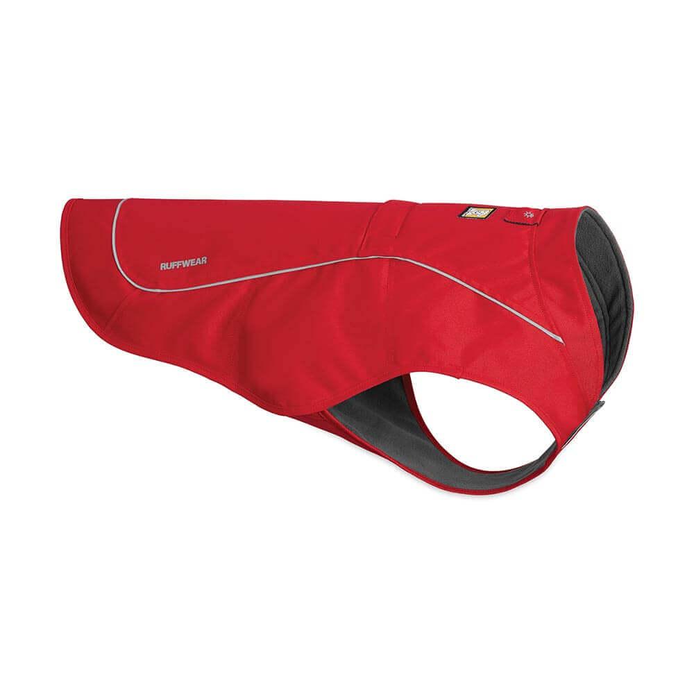 Ruffwear zimní bunda pro psy, Overcoat Jacket, červená, velikost M