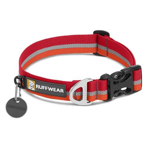 Ruffwear obojek pro psy Crag collar, červený, velikost 36 - 51cm