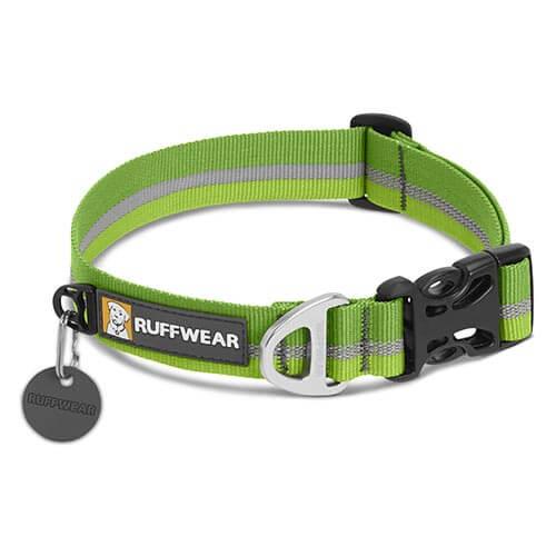 Ruffwear obojek pro psy Crag collar, zelený, velikost 28 - 36cm