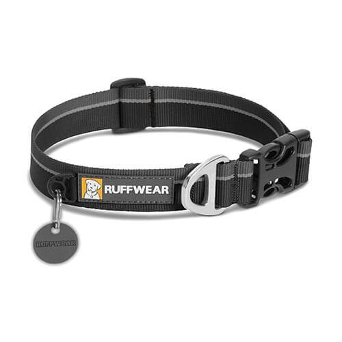 Ruffwear obojek pro psy, Hoopie Dog Collar, černý, velikost L