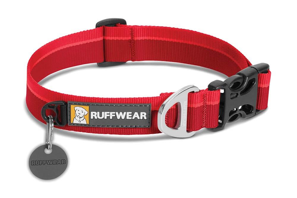 Ruffwear obojek pro psy, Hoopie Dog Collar, červený, velikost M
