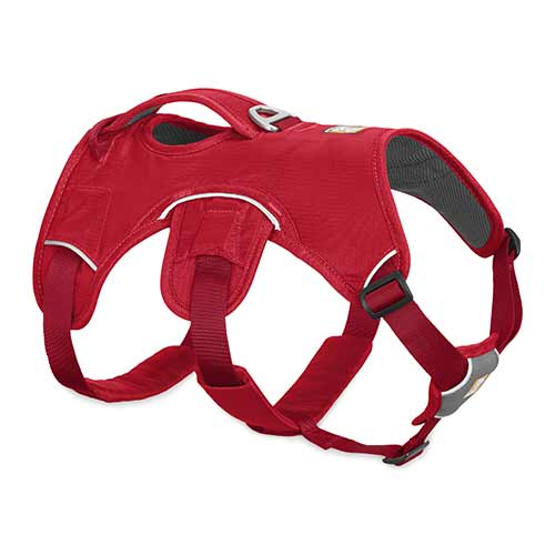 Ruffwear postroj pro psy, Web Master, červený, velikost XXS
