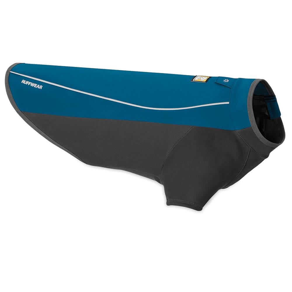 Ruffwear nepromokavá softšelová bunda pro psy, Cloud Chaser, modrá, velikost L