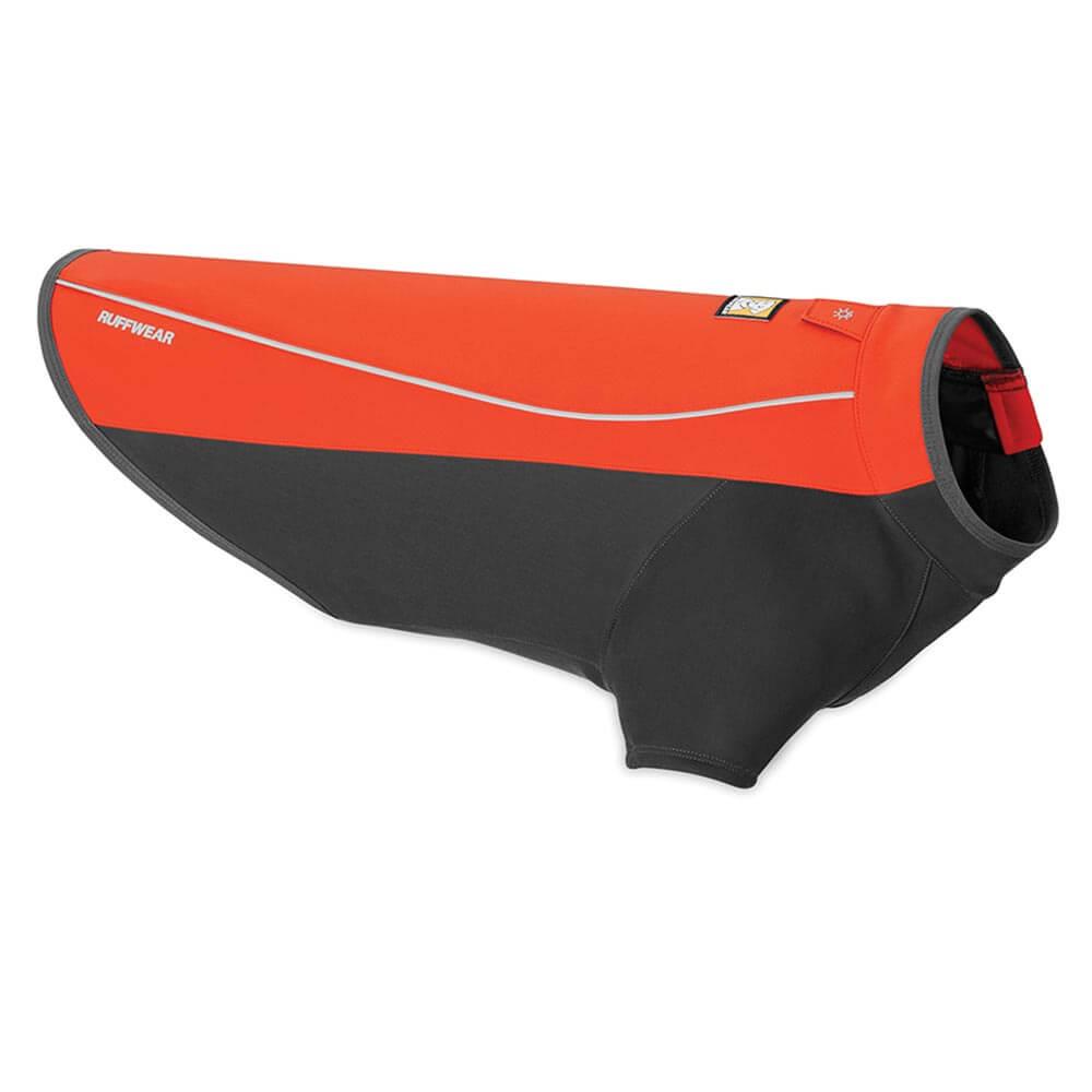 Ruffwear nepromokavá softšelová bunda pro psy, Cloud Chaser, červená, velikost XXS