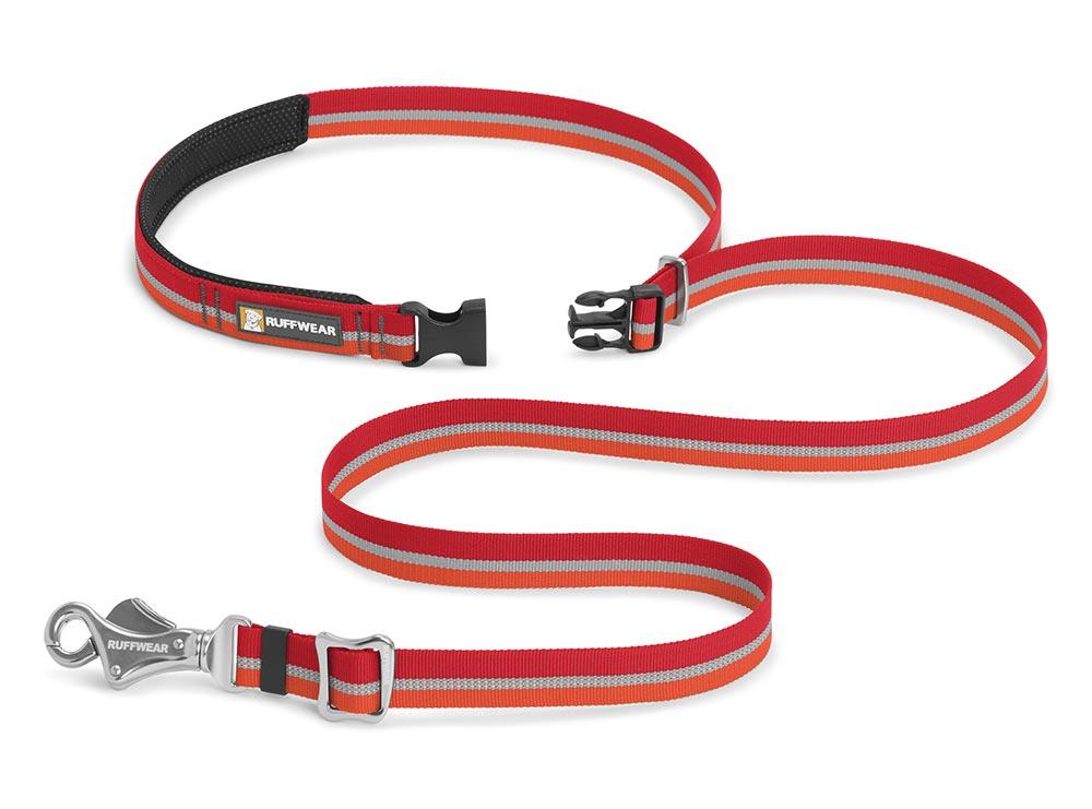 Ruffwear vodítko pro psy, Slackline Leash, červené