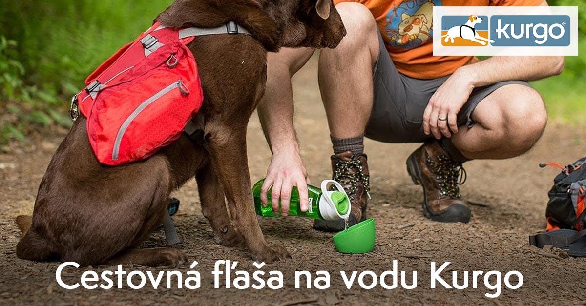 Cestovná fľaša na vodu Kurgo Gourd Water Bottle & Bowl